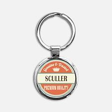 sculler vintage logo Round Keychain