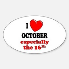 October 16th Oval Decal