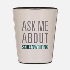 Screenwriting Shot Glass
