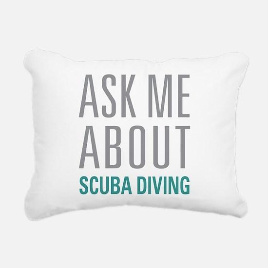Scuba Diving Rectangular Canvas Pillow