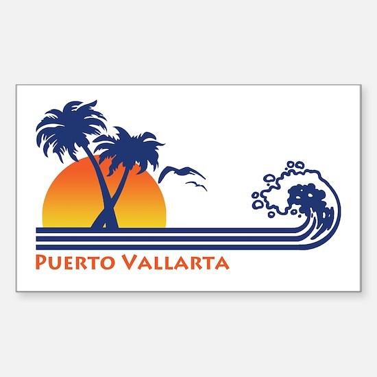 Puerto Vallarta Sticker (Rectangle)