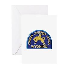 Cowboy Courtesy Patrol Wyoming Greeting Cards