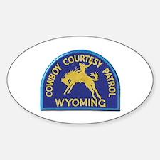 Cowboy Courtesy Patrol Wyoming Decal
