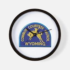 Cowboy Courtesy Patrol Wyoming Wall Clock