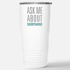 Shorthand Stainless Steel Travel Mug