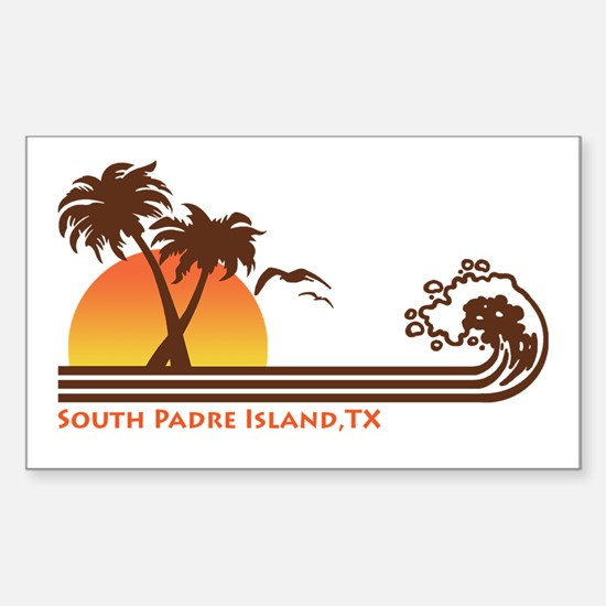 South Padre Island Texas Sticker (Rectangle)