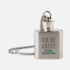 Stamp Collecting Flask Necklace