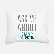 Stamp Collecting Rectangular Canvas Pillow