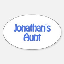 Jonathan's Aunt Oval Decal