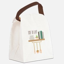 Time To Eat Canvas Lunch Bag