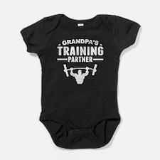 Grandpas Training Partner Baby Bodysuit
