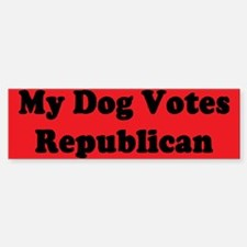 Dog Votes Repub Bumper Bumper Bumper Sticker