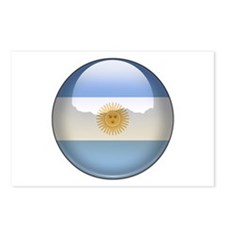 Argentina Flag Jewel Postcards (Package of 8)