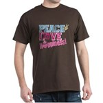 Peace Love and Happiness Dark T-Shirt