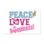 Peace Love and Happiness Mini Poster Print