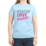 Peace Love and Happiness Women's Light T-Shirt