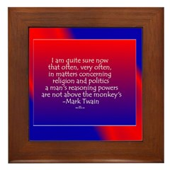 Mark Twain 2 Framed Tile