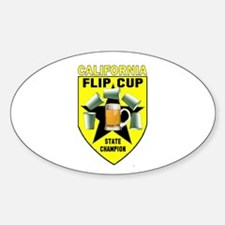California Flip Cup Oval Decal
