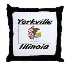 Yorkville Illinois Throw Pillow