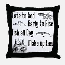 Lures Throw Pillow