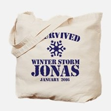 Survived Winter Storm Jonas Tote Bag