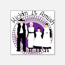"Cool Amish Square Sticker 3"" x 3"""
