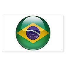 Brazil Flag Jewel Rectangle Decal