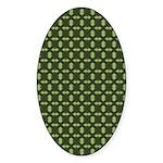 Geranium Leaves Oval Sticker