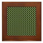 Geranium Leaves Framed Tile