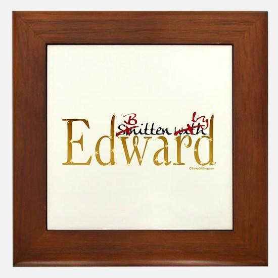 Bitten by Edward Framed Tile