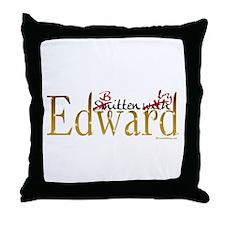 Bitten by Edward Throw Pillow