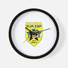 Georgia Flip Cup State Champi Wall Clock
