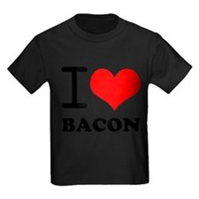 Unique I love bacon and chips T