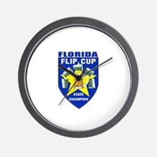 Florida Flip Cup State Champi Wall Clock
