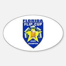 Florida Flip Cup State Champi Oval Decal