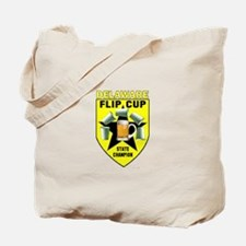 Delaware Flip Cup State Champ Tote Bag