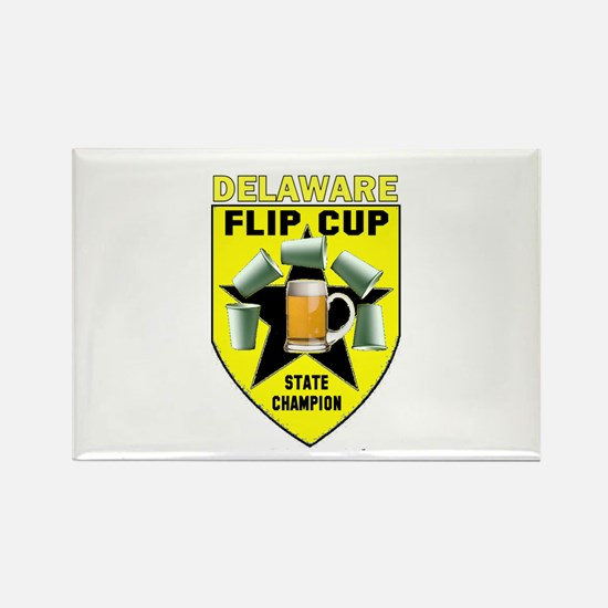 Delaware Flip Cup State Champ Rectangle Magnet