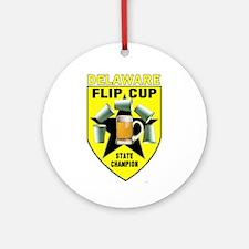 Delaware Flip Cup State Champ Ornament (Round)