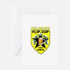 Delaware Flip Cup State Champ Greeting Cards (Pk o