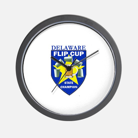 Delaware Flip Cup State Champ Wall Clock