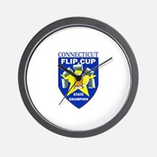 Connecticut Flip Cup State Ch Wall Clock
