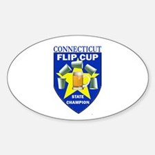 Connecticut Flip Cup State Ch Oval Decal