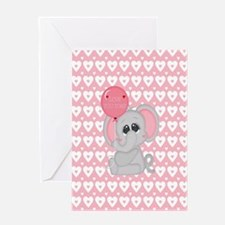 Cute Mother elephant and baby elephant Greeting Card