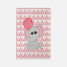 Funny Pink elephant Rectangle Magnet