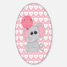 Cool Elephant love Sticker (Oval)