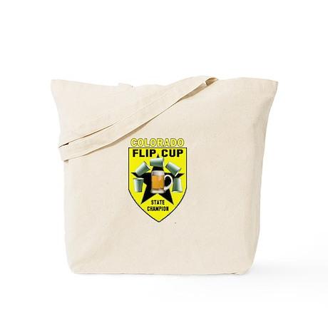 Colorado Flip Cup State Champ Tote Bag