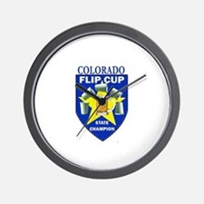 Colorado Flip Cup State Champ Wall Clock