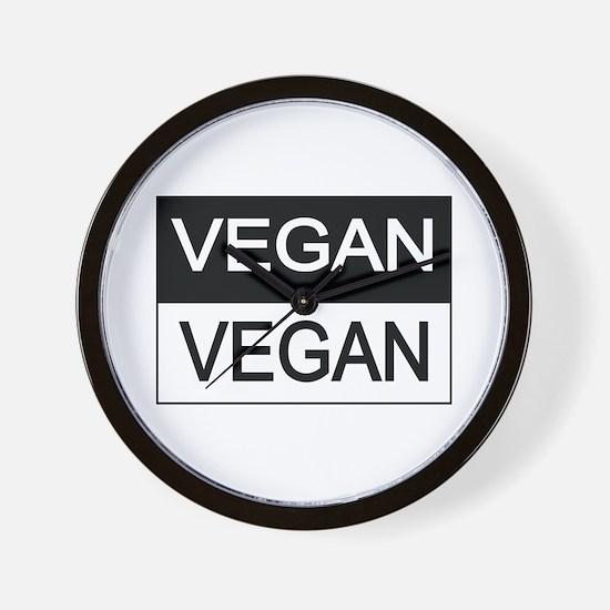 Vegan Black And White Wall Clock