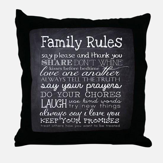 Cute Family Throw Pillow