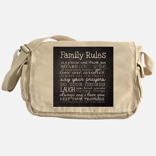 Cute Family Messenger Bag